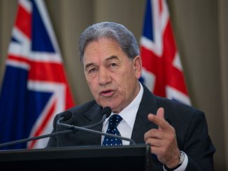 Acting Prime Minister Winston Peters during his press conference, after it was announced nurses are to go on strike on Thursday, at the Beehive, Wellington. 10 July, 2018. New Zealand Herald Photograph by Mark Mitchell